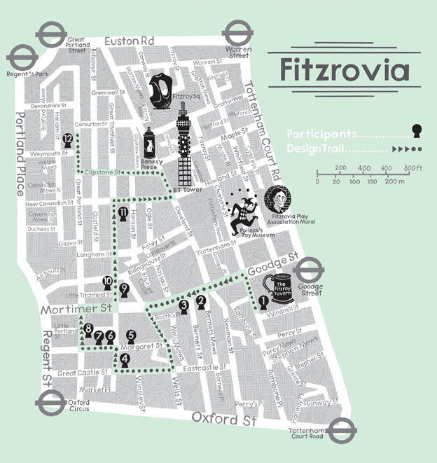 ... 'Fitzrovia Now & Then', outlining the history of the area